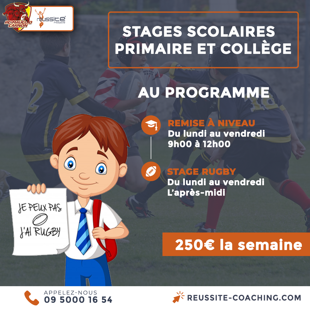 stage scolaire rugby réussite mauguio